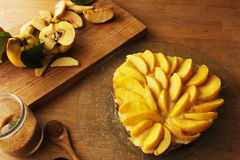 Galdéria exterior dietética do marmelo com açúcar de bastão Fotografia de Stock