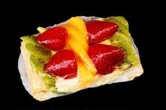 Galdéria misturada da fruta no preto Fotografia de Stock Royalty Free