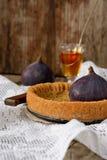 Galdéria ou torta com figos e mel Imagem de Stock