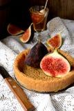 Galdéria ou torta com figos e mel Fotografia de Stock Royalty Free