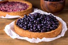 Galdéria saboroso caseiro da torta de mirtilo com mirtilo de Berry Dessert Wooden Background Fresh fotos de stock