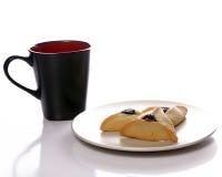 Galdérias do café e da fruta Imagem de Stock Royalty Free