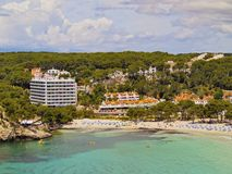 Galdana Bay on Minorca Royalty Free Stock Images