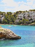 Galdana Bay on Minorca Royalty Free Stock Photo