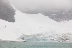 Galdhopiggen glaciär jotunheimen nationalparken Rutt 55 Norwe Arkivbilder
