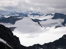 galdhopiggen jotunheimen mt挪威 库存图片