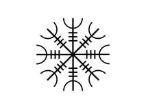 Galdrastafir Symbole islandais, runes entrelacées Vecteur illustration libre de droits