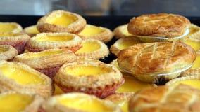 Galdérias do ovo e do abacaxi da sobremesa do estilo de Hong Kong do português Fotos de Stock
