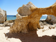 Gale beach in Portugal. One of the most amazing beaches in Algarve, Portugal is the Gale beach with all the rock formations Stock Photography