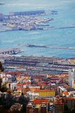 Gale-force wind Bora, Trieste, Italy. Top-view. Gale-force wind Bora, Trieste, Italy. February 2018. Top-view of city and Adriatic sea Stock Photography