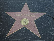 Gale Gordon-ster in hollywood Royalty-vrije Stock Afbeelding