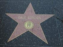Gale Gordon-Stern in Hollywood lizenzfreies stockbild