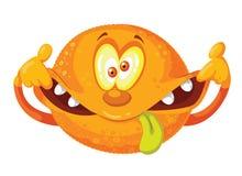 Galen apelsin Arkivbilder