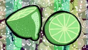 Galen bakgrund för citroner Fotografering för Bildbyråer