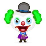 Galen clownillustration Arkivfoton