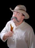 galen cowboy Arkivbild