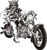 galen cyklist Royaltyfri Bild