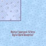 Galen digital modell med konstig geometri vektor illustrationer