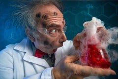 Galen forskare för sprängt experiment fotografering för bildbyråer