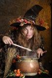 galen halloween häxa Royaltyfri Fotografi