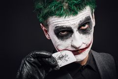 Galen jokerframsida halloween Arkivbilder