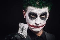 Galen jokerframsida halloween Arkivfoton