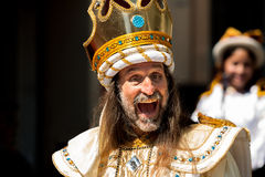 Galen konung royaltyfri bild