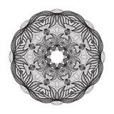 Galen mandalamall för färgläggningboken, zendoodle Rund zentangle Den runda prydnaden snör åt modellen för din design Arkivbilder