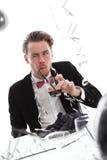 Galen partigrabb med exponeringsglas Fotografering för Bildbyråer