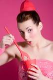 galen pink Arkivbild