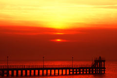 galen röd solnedgång Arkivfoton