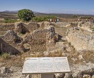 Galen`s Thermal Baths in Volubilis, Morocco royalty free stock photography