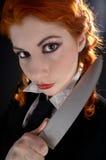 galen schoolgirl för kniv 2 royaltyfria foton