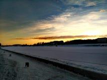 galen solnedgång Arkivfoto