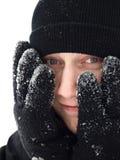 galen vinter Arkivbilder