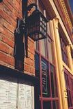 Galena, esterno storico del ristorante di Illinois Immagine Stock