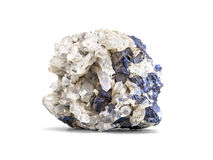 Galena metallic ore mineral sample a rare earth mineral of zinc and lead isolated on white with clipping path.  Stock Images