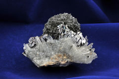 Galena and quartz Stock Images