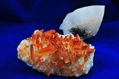 Galena and quartz Royalty Free Stock Photography