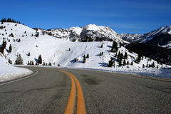 Galena Summit - Winter. Galena Summit, hwy 75 between Stanley and Ketchum Idaho, Winter Stock Image
