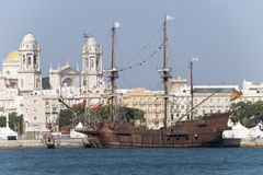 Galeon in Cadiz Royalty Free Stock Image