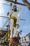 Galeone gammalt träskepp i en sommardag i Genua, Italien bildlegitimation: 359833034 Royaltyfri Bild