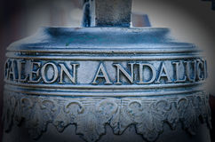 Galeonu dzwon, Campana Di Galeone Andaluso Obraz Stock