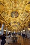 Galería Apolo en Louvre del museo Imagen de archivo