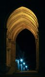 Galería con las lámparas de la estrella a través del filtro de enfriamiento Imagen de archivo libre de regalías