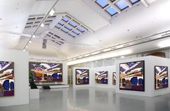 Galería de arte 2 fotografía de archivo libre de regalías