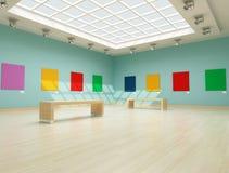 Galería de arte moderno coloreada Imágenes de archivo libres de regalías