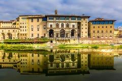 Galería de Uffizi en Florencia, Toscana, Italia imagen de archivo libre de regalías