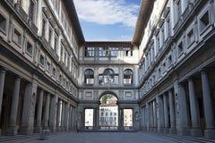 Galería de Uffizi en la madrugada Imágenes de archivo libres de regalías