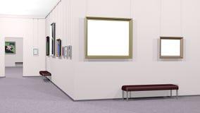 Galería del arte con dos copyspaces Fotografía de archivo libre de regalías